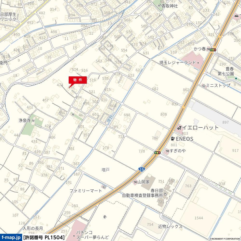 春日部市増戸周辺地図