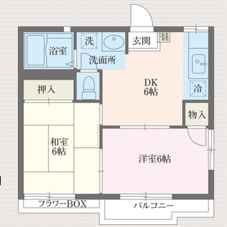 【賃貸情報】蓮田:フリーレント1カ月!2DK角部屋・駐車場有