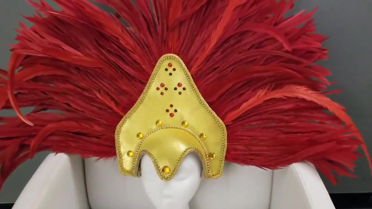 Red and Gold headdress video