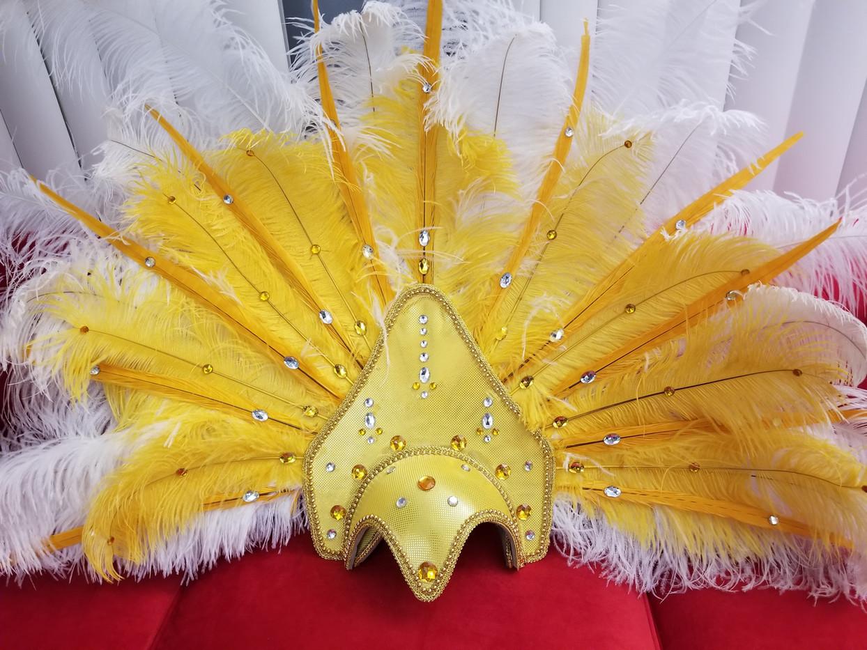 White and Gold headdress