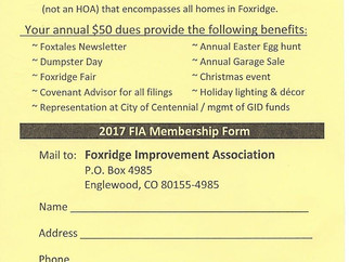 LOOK!  Yellow Postcard in your mailbox...Dues Reminders mailed this week!