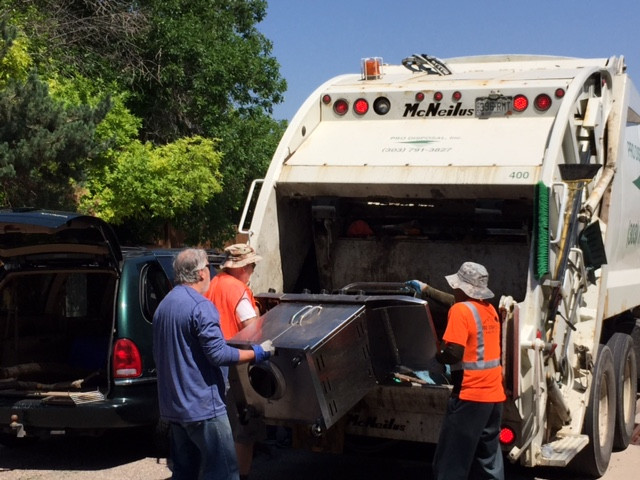 Hi Foxridge!  I've confirmed the date and wanted to let you know that the Foxridge Dumpster Day is Saturday, June 3, 2017 from 8AM to 11:30 (or until all dumpsters have been filled).   This event is open to all paid Foxridge Improvement Association (FIA) members. You can pay your dues on site by writing a check for $50 for the 2017 year.  This is one of many events that is provided by payment of your optional dues. Please consider joining the Foxridge Improvement Association so that we may continue to sponsor great events like this.  A driver will be there to assist you with unloading your vehicle, but please bring your own help if necessary.  Please note: Pro Disposal WILL NOT accept the following items: Hazardous waste, dirt, rock, sod, concrete, roofing shingles, industrial waste, chemical products, herbicides and pesticides, radioactive material, solvents, liquid paint, anti-freeze.  No liquids, flammable liquids, aerosol cans, propane tanks, motor oil, transmission oil, lubricating/hydraulic oil/, oil filters, batteries, electronics (such as computers, monitors, televisions, microwaves, etc.) fluorescent tubes, railroad ties, medical waste, asbestos, animals, barrels.    I will need some volunteers for the morning–-please contact the FIA board at Foxridge.board@gmail.com  or kylahammondrealty@gmail.com if you can help.