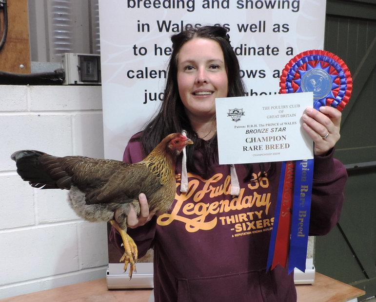 Caren Jones with her Best Rare Breed