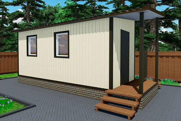 1-Модульный дом BKDD 1-2 (16,8м2) с верандой