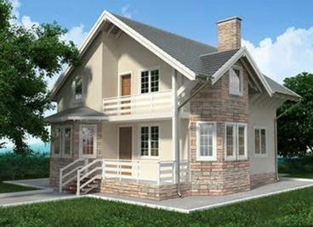 """Каменный дом """"Д-7""""  - 187,2 кв.м."""