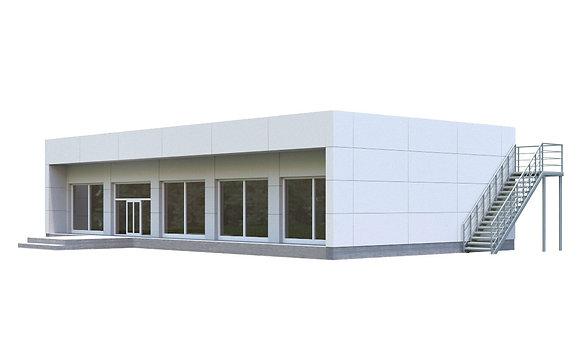 Здание из сэндвич-панелей №10 (139,3кв.м.)