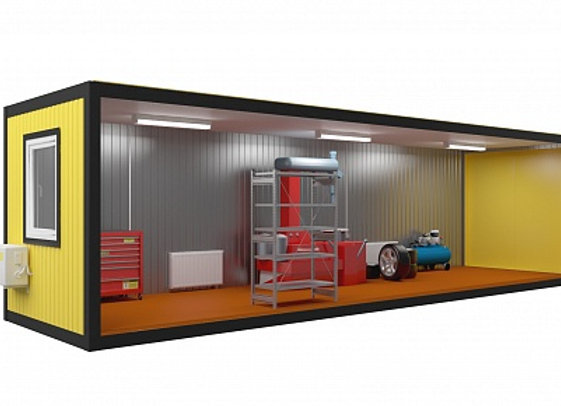 Блок контейнер под шиномонтаж 9х2,4м