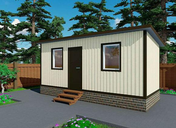 1-Модульный дом BKDD 1-1 (14,4м2)