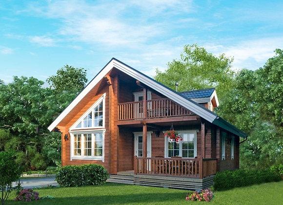 """Дом из клееного бруса """"К-5"""" 120.6м² (9.6*9.1)"""