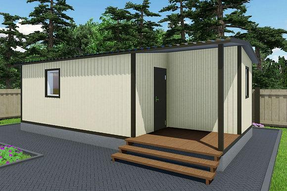 3-Модульный дом BKDD 3-1 (40,3м2)