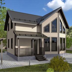 Проект дома площадью 104 м2