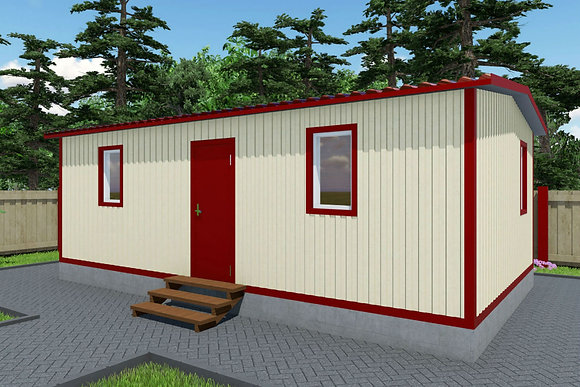 4-Модульный дом BKDD 4-2 (38,4м2) без веранды