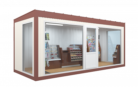 Магазин с панорамными окнами 6 х 2,4м