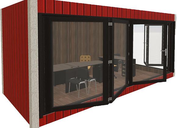 Офис продаж с панорамным остеклением 14м2