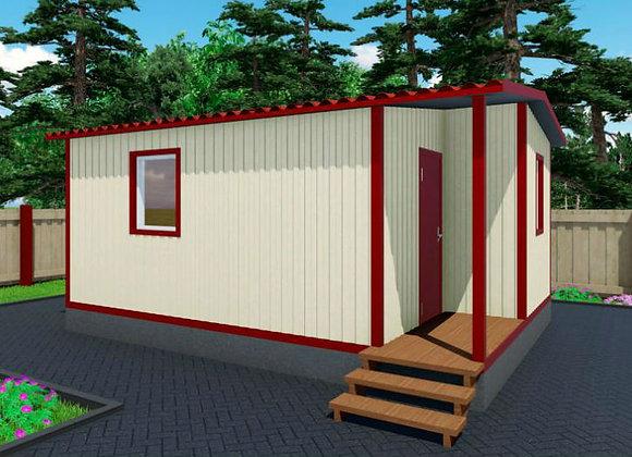 2-Модульный дом BKDD 2-1 (28,8м2)