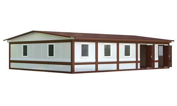 Здание из сэндвич-панелей №6 (108 кв.м.)