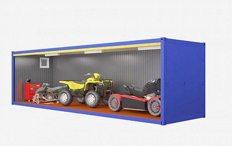 Блок контейнер - гараж 9м