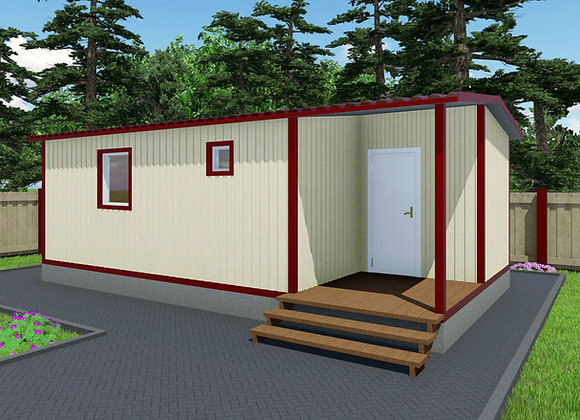 2-Модульный дом BKDD 2-3 (38,4м2) с 2 входами
