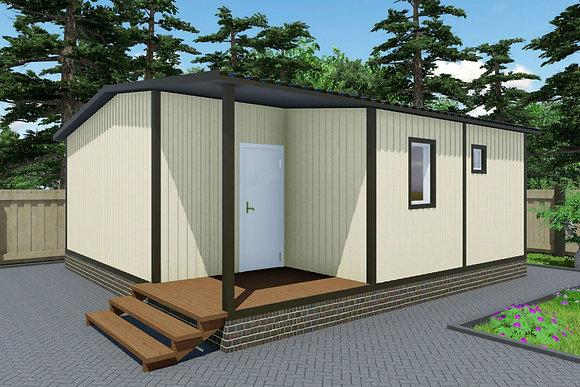 3-Модульный дом BKDD 3-7 (50,4м2) с сауной