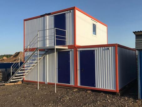 Модульное здание АБК из 5 модульных БК