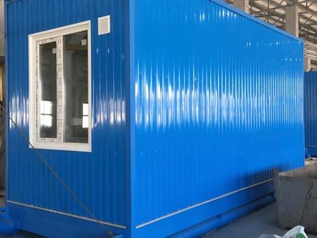 Блок-контейнер на санях