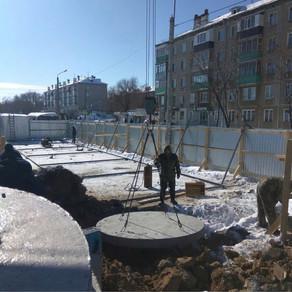 Установка канализационного колодца (септик)