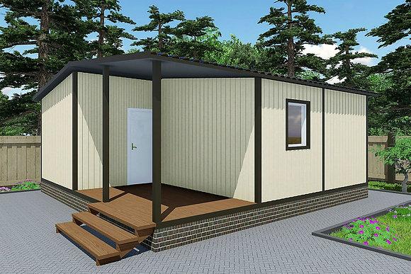 3-Модульный дом BKDD 3-5 (50,4м2) с большой верандой