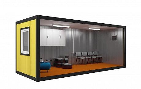 Блок контейнер шиномонтаж эконом 6х2,4