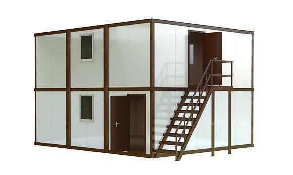 Здание из сэндвич-панелей №3 (86,4 кв.м.)