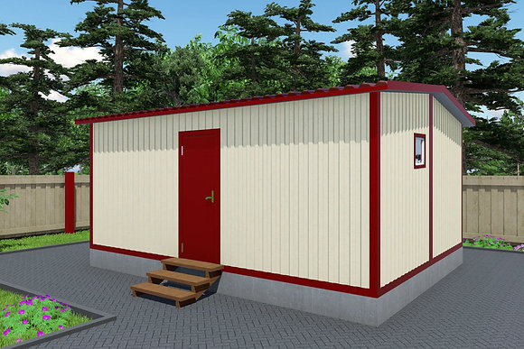 2-Модульный дом BKDD 2-2 (28,8м2) с помещением под кладовую