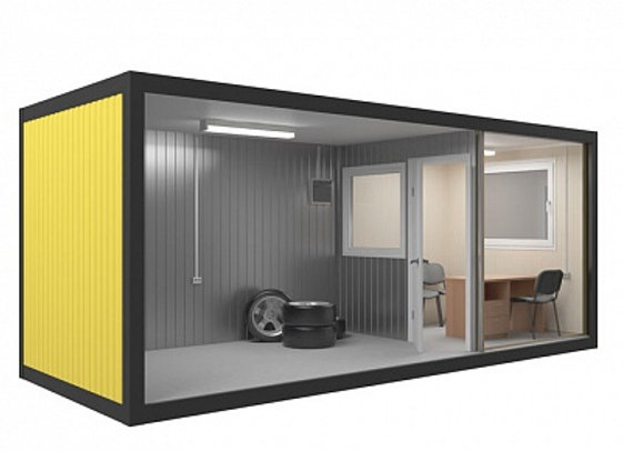 Блок контейнер под шиномонтаж 6х2,4м