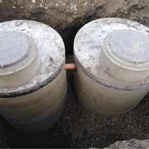 Монтаж бетонного септика из жби