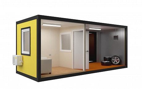 Блок контейнер с комнатой для посетителей 6х2,4м