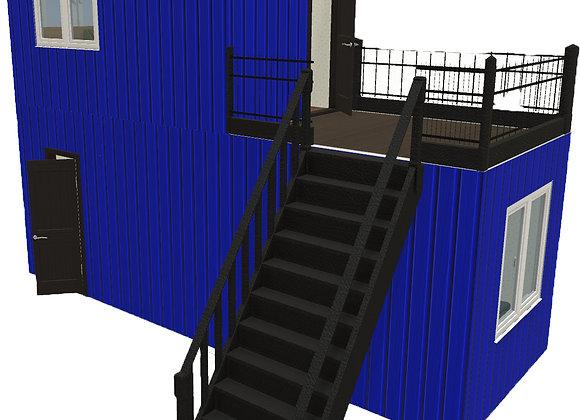 Пост охраны 2 этажа с балконом