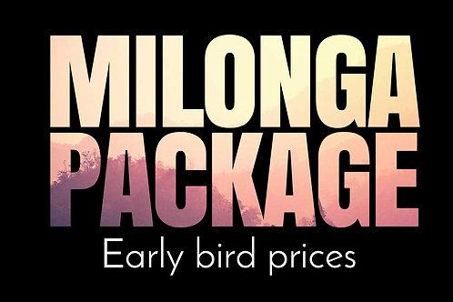 Early Bird - Milonga Package