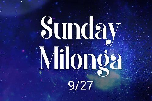 Sunday Milonga Only