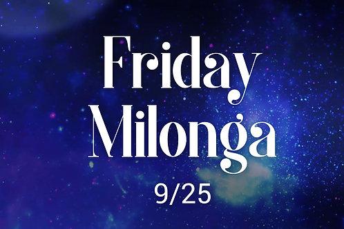 Friday Milonga Only