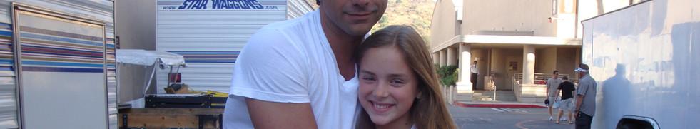 Madison with John Stamos