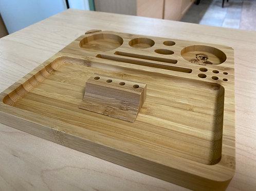 Afghan Hemp Wood Rolling Tray