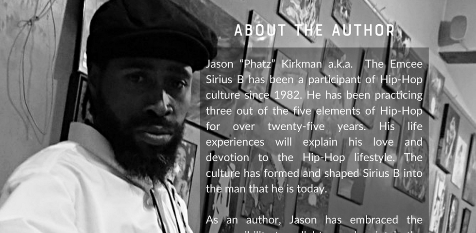 Offstage author's bio