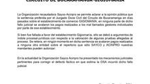 COMUNICADO: FALLO JUZGADO 12 CIVIL DEL CIRCUITO DE BUCARAMANGA - GIGIOMANÍA