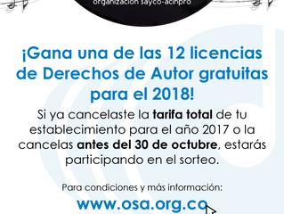 Usuarios al día participarán en sorteo de licencias anuales para 2018