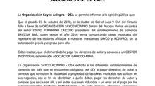 ¡IMPORTANTE! FALLO A FAVOR DE OSA EN PROCESO JUDICIAL; JUZGADO 9 C.C DE CALI