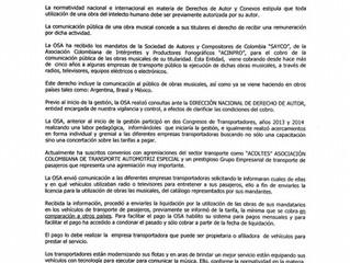 IMPORTANTE: Aclaración sobre Recaudo en Transporte Público - OSA