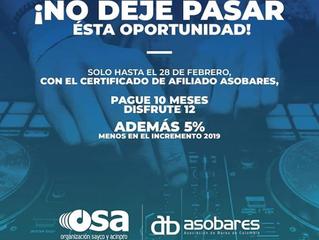 Durante el mes de febrero, fortalecemos nuestra alianza con la Asociación de Bares de Colombia.