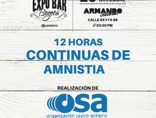 OSA brindará 12 horas continuas de amnistía en Expo Bar 2016