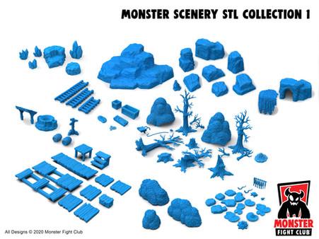 Monster Scenery STL Bundle 1