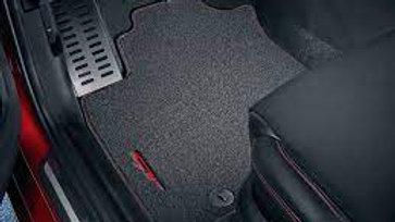 Velours Fußmatten GT Logo Rot