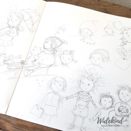 Skizze Charaktere