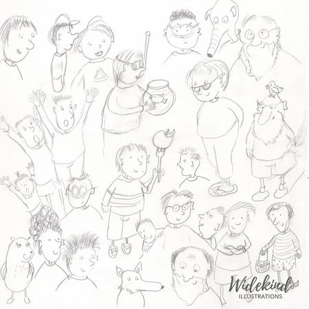 Skizzen Charaktere